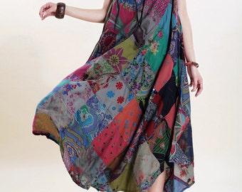 Romantic sleeveless long sundress