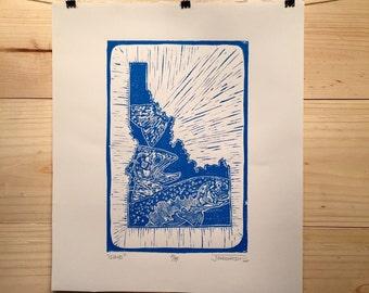 Idaho fly fishing artwork by Jonathan Marquardt of BadAxeDesign