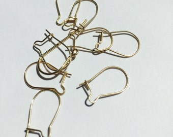 14k Gold-Filled Kidney Wires Pack of 10 (5 pairs)
