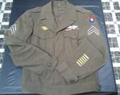"""Vintage """"Ike"""" Wool Jacket Sz 32L WWII"""
