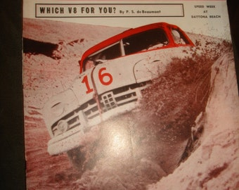 February 1952 Speed Age The Complete Automotive Magazine ~ Vintage 1950s Auto Car Hot Rod Racing