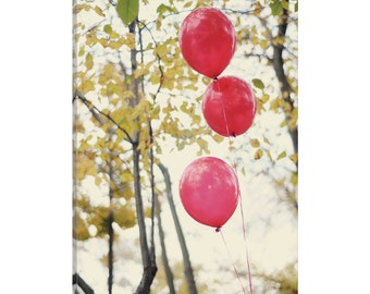 iCanvas Can You See The Red Balloons Gallery Wrapped Canvas Art Print by Chelsea Victoria