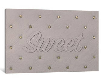 iCanvas Sweet White Gallery Wrapped Canvas Art Print by 5by5collective