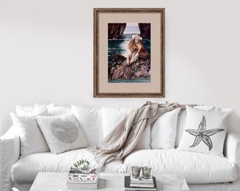 Mermaid painting art print by Michaeline McDonald