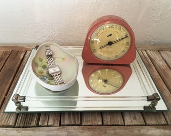 Vintage Glass and Mirrored Vanity Tray