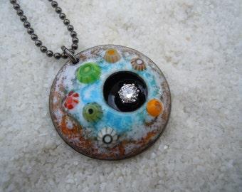 Barnacle necklace Enamel jewelry Artisan jewelry Ocean jewelry