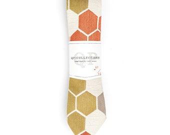 Geometric - Skinny Tie - Wedding - Monogram - Groom