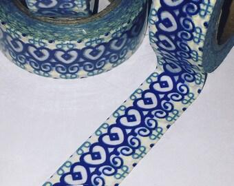 Pretty Blue Adinkra Inspired Washi Tape