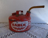 Vintage Red Eagle Gas Can The Gasser Industrial Man Cave Automotive Garage Mid Century Rustic Chippy Farmhouse Home Decor Birthday Gift Him