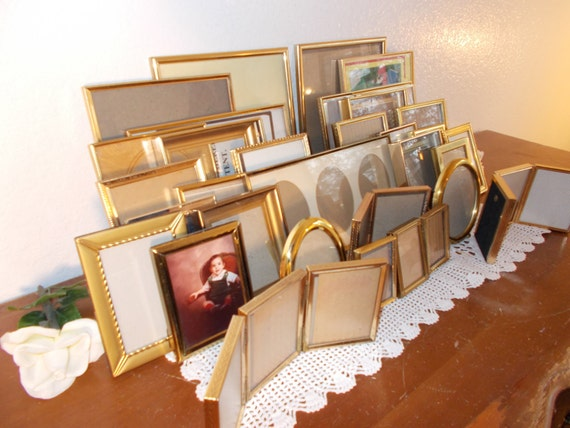 Vintage Gold Frame Collection Set Large Picture Photo Instant