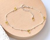 Yellow Sapphire Sterling Silver Bracelet