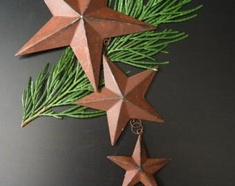 Rusty Metal Star Ornament, Wall Hanging, Rustic Western Star Mobile