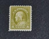 US Stamp 8 cent Ben Franklin MLH #508  1917
