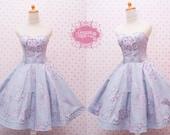 READY STOCK Retro Dress - Straples Swing Dress - Tea Party Dress - Bridesmaid
