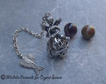 Angelic Interchangeable Sphere Dowsing Pendulum (DP0331)