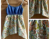 Denim and Cotton Hippie/ Gypsy Style Sundress, girls size 6
