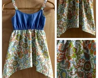Denim and Cotton Hippie/ Gypsy Style Sundress, girls size 6