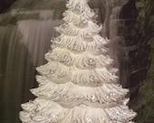 "HUGE 23""-24"",Large, Ceramic Christmas tree, Music box, Vintage Christmas tree, Table Top Tree,Ceramic bisque,Ready to paint, Ceramic u-paint"