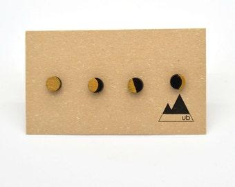 Moon Phasses - Wood Studs- Mix & Match
