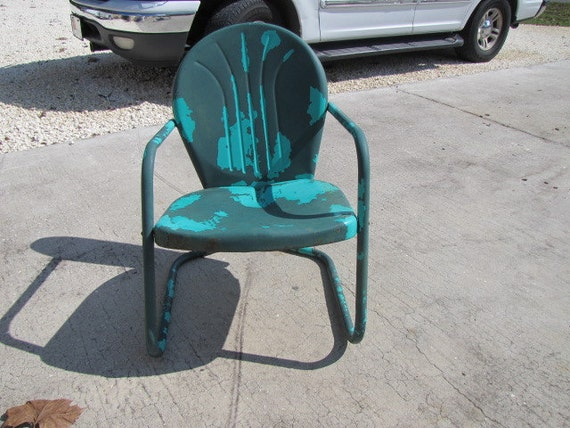Metal Lawn Chair Vintage 110215 AS IS By Dkm123 On Etsy