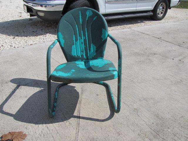 Metal Lawn Chair Vintage 110215 Needs Restoration