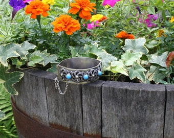 Silver Turquoise Bracelet Cuff