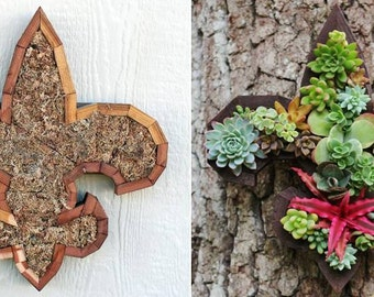 DIY Letter Fleur de Lis Planter Vertical Planter Box Succulents