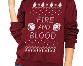 Fire & Blood Game of Thrones Ugly Holiday Sweater