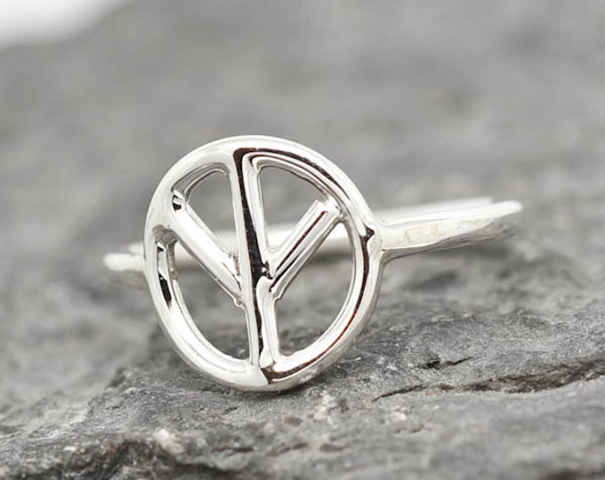 Peace Sign Ring, Peace Sign Jewelry, Peace Sign Accessories, 925 Sterling Silver, Kids Ring, Kids Jewelry
