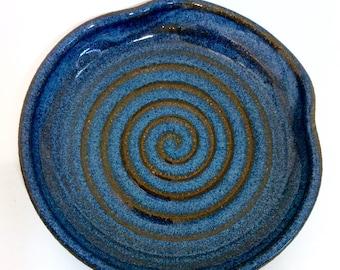 Ceramic Spoon Rest, Blue Kitchen Spoon Rest, Handmade Pottery, Cooking, Kitchen Decor, Lauren Bausch