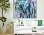 Original large abstract painting oil on canvas home decoration