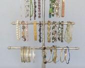 Bracelet Stand on Vintage Glass Base |  6 Arms | Bracelet Holder | Store Display | Gifts for Her |