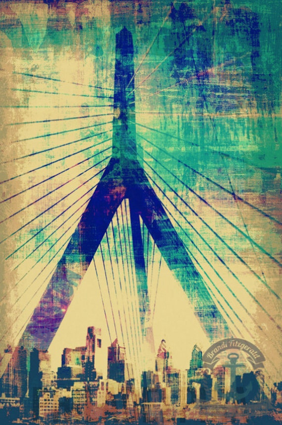 Zakim to the Sky Boston Zakim Bridge City Skyline Product Options and Pricing via Dropdown Menu