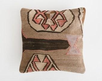 16x16 Turkish Kilim Pillow / Feather Insert (1)