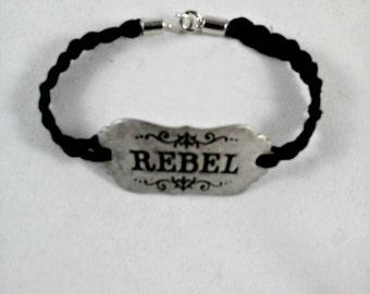 Rebel Bracelet-Black Braided Hemp Rebel Bracelet-Black Rebel Bracelet