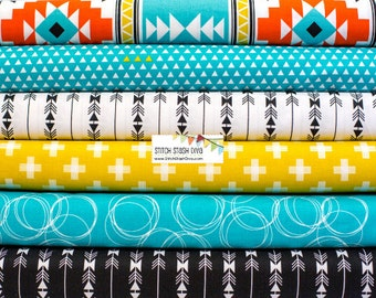 Teal Four Corners Bundle From Riley Blake's Four Corner Collection