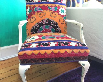 Painted Suzani chair