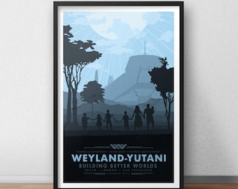 Buildin Better Worlds Poster - 12 x 18 inches - Alien - Aliens
