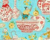Monkey Jars Aqua Pillow Cushion Cover