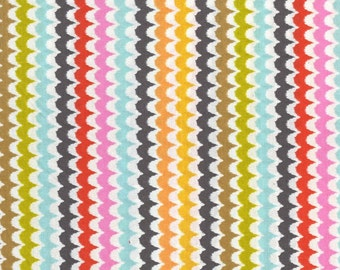 Michael Miller fabric by the yard Spa Scallop in Coral 1 Yard