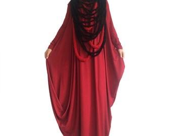 Women maxi dress/ Plus size maxi dress/ caftan dress/ Oversized maxi dress/ Abaya/ Loose tunic dress/ Long sleeve dress/ Asymmetrical dress