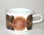 Arabia Finland ROSMARIN Brown Anemone Espresso Demitasse Coffee Cup - Ulla Procope Early Hand Signed