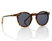OMalley Round Tortoise Frame Sunglasses - Smoke Lens Glasses X American Deadstock