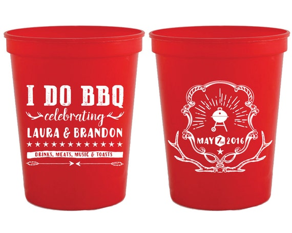 i do bbq favors couples shower favors bbq party cups i do