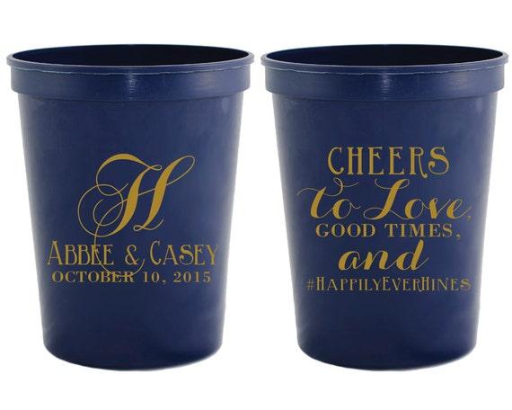 monogrammed wedding favors wedding cups monogrammed cups