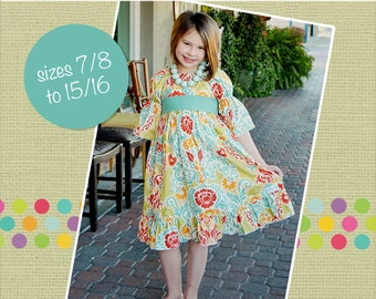 HALFOFF SALE Marissa's Tween Perfect Peasant Dress PDF Pattern size 7/8 to 15/16 girls