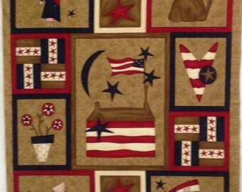 Olde Glory fabric panel - Moda Fabric - Sandy Gervais