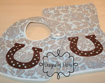 Tester Baby Bib & Burp Cloth Set-Baby Bibs-Baby Gift, Baby Girl, Baby Boy -Baby Shower Gift-Baby Bibs-