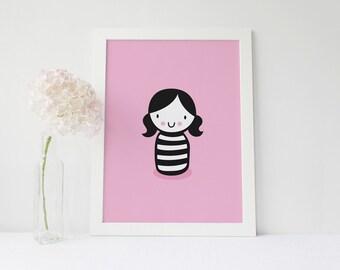 Little Girl Digital Print
