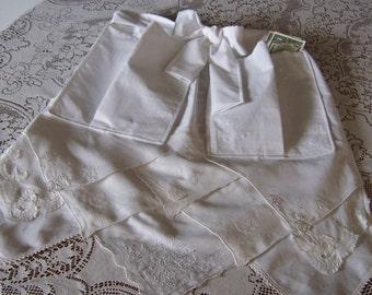 Dollar Dance Wedding Apron Bride's Apron from Vintage Handkerchiefs Wedding Reception Money Dance